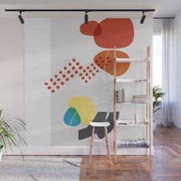Shape & Hue Series No. 3 – Yellow, Orange & Blue Modern Abstract Wall Mural