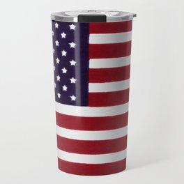 USA flag - Painterly impressionism Travel Mug