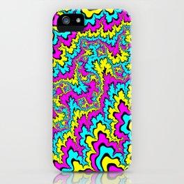 CMYK fractal trippiness iPhone Case