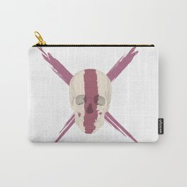 Skull with bloody streak on his face Carry-All Pouch