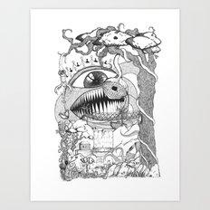 Monster's Garden! Art Print