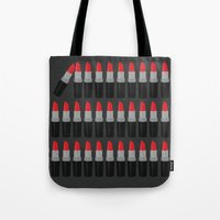 lipstick Tote Bags featuring Lipstick by Headline Honey