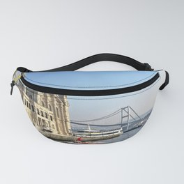 Mosque and Bridge, Istanbul Turkey Fanny Pack