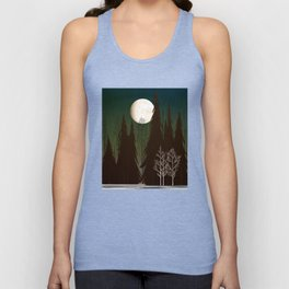 Into The Winter Woods Unisex Tank Top