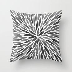 Blackened Burst Throw Pillow