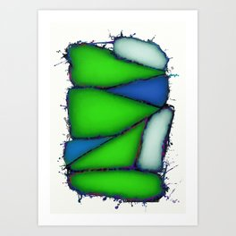 Crushed green Art Print