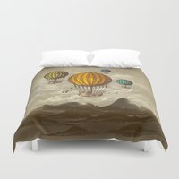 voyage Duvet Covers featuring The Voyage by Viviana Gonzalez