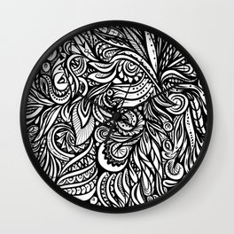 Black and White Abstract Design Wall Clock
