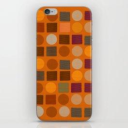 """Warm spots & squares (pattern)"" iPhone Skin"