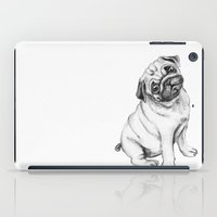 pug iPad Cases featuring Pug by Maripili