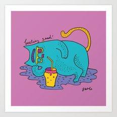 fatty cat Art Print