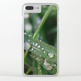 Grass Macro Clear iPhone Case