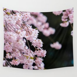Japanese Cherry Blossoms Wall Tapestry