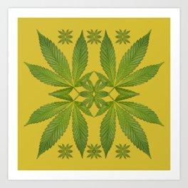 Marijuana Leaf Pattern Art Print
