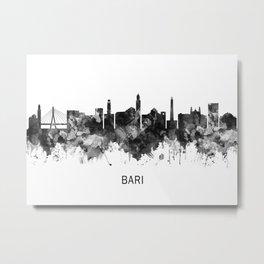 Bari Italy Skyline BW Metal Print