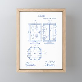 Filing Cabinet Vintage Patent Hand Drawing Framed Mini Art Print