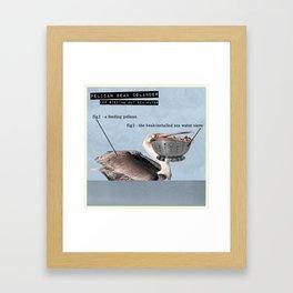 Pelican Beak Colander Framed Art Print