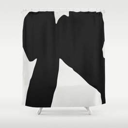 Black Coat Shower Curtain