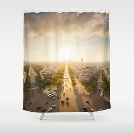 Champs Elysees From the Top Shower Curtain