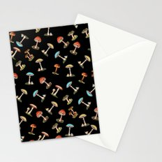 Electric Neon Mushrooms Stationery Cards