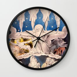 "William Blake ""When the Morning Stars Sang Together"" Wall Clock"