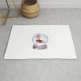 Dog Snow Globe (2) Rug
