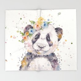Little Panda Throw Blanket