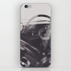 Super car details, british triumph spitfire, black & white, high quality fine art print, classic car iPhone & iPod Skin