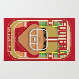 American Football Red and Gold - Enzone Puntfumbler - Seba version Rug