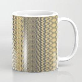 Grey Yellow Wavy Chevron Groovy Coffee Mug