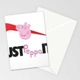 just peppa it Stationery Cards