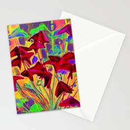 Oxalis psychedelic version Stationery Cards