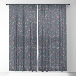 80's Arcade Carpet Sheer Curtain