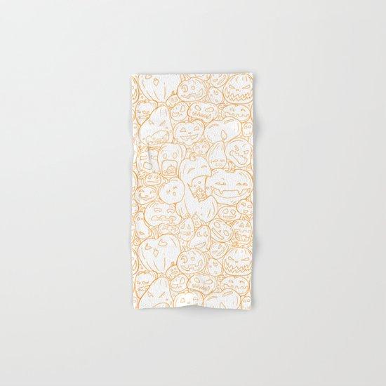 Pumpkin Halloween line pattern Hand & Bath Towel