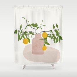 Lemon Branches Shower Curtain