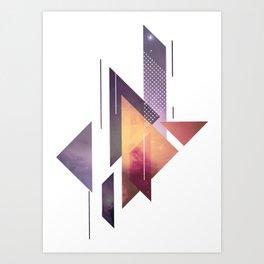 Orion Nebula Triangle Pattern Art Print