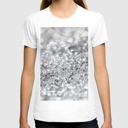 Silver Gray Lady Glitter #1 #shiny #decor #art #society6 T-shirt