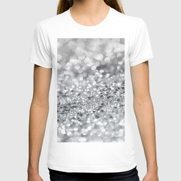 Silver Gray Lady Glitter #1 #shiny #decor #art #society6 T-shirt