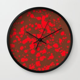 Circled in Red Wall Clock