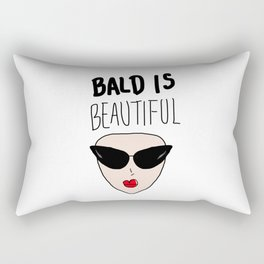 Bald is Beautiful Rectangular Pillow