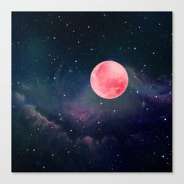 Pink Moon Canvas Print