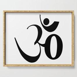 OM or Aum symbol Serving Tray