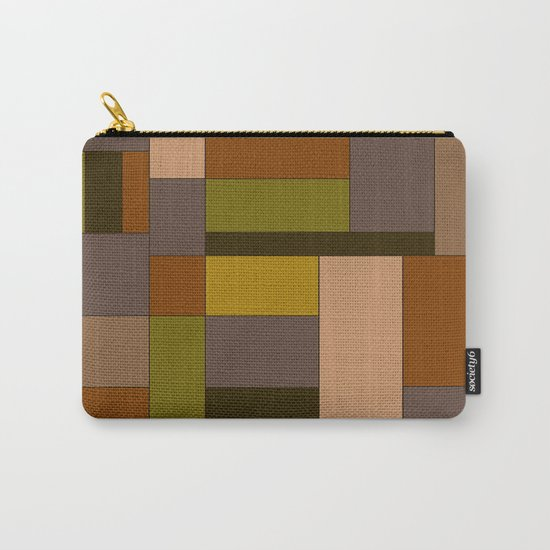 Abstract #370 Mondrian #6 Carry-All Pouch