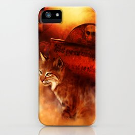 Bobcat Spirit iPhone Case