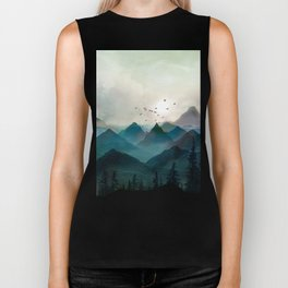 Mountain Sunrise II Biker Tank