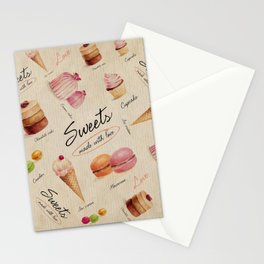 Sweets & Desserts Stationery Cards