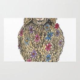 Flower Goat Rug