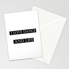 I love ... black Stationery Cards
