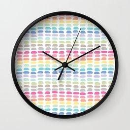 rainbow brushstrokes Wall Clock