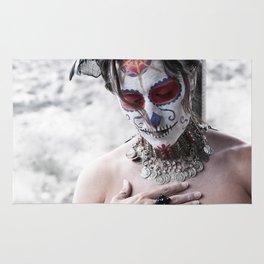 A Dia De Los Muertos Portrait Rug